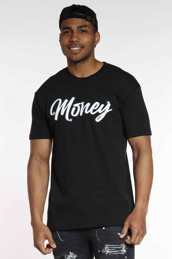Work For It Money Tee - Black-VIM.COM