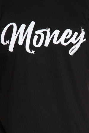 Work For It Money Tee - Black