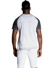 Men's MARBLE V NECK FRONT POCKET TEE (AVAILABLE IN 2 COLORS)