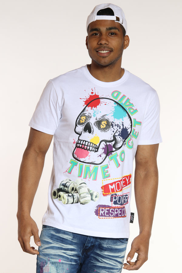 Time To Get Paid Tee - White-VIM.COM