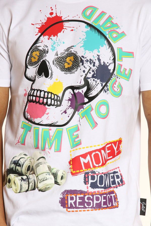 Time To Get Paid Tee - White