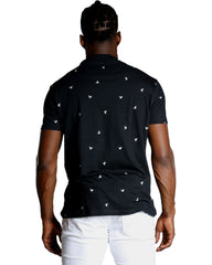 Men'S All Over Bird Tee - Black