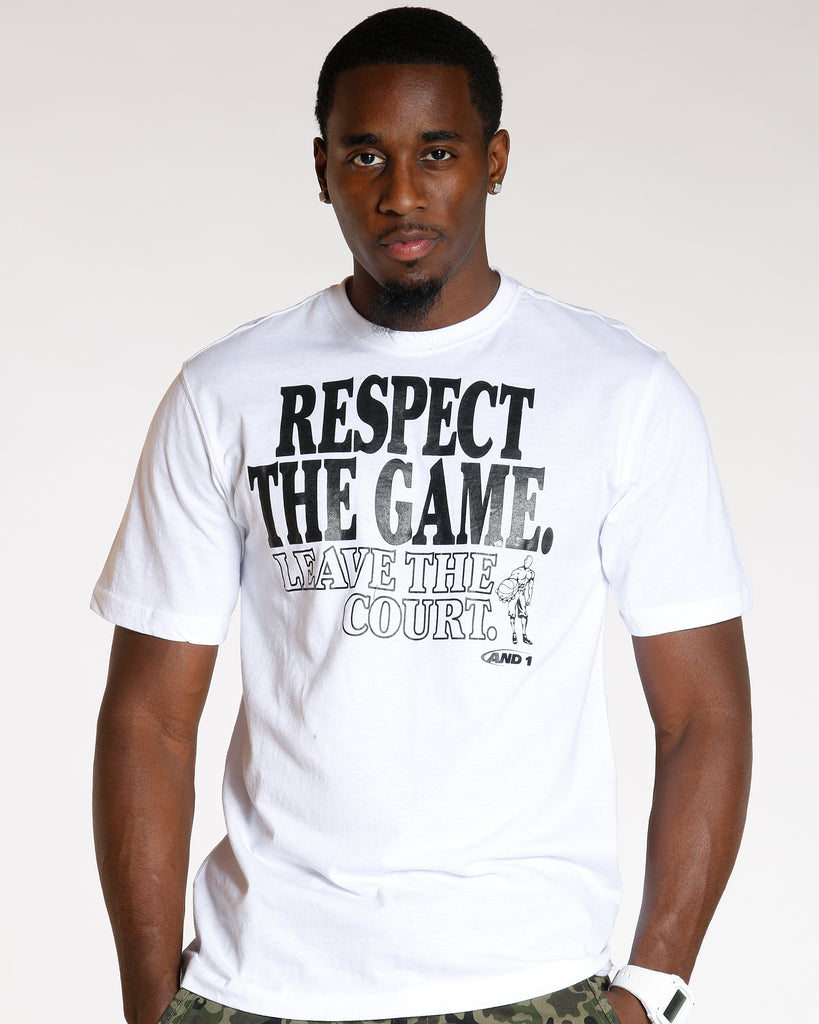 VIM Respect The Game And 1 Tee - White - Vim.com