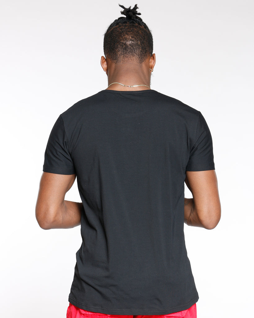 VIM Embossed Fashion Style Tee - Black - Vim.com