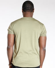 Olive Moto And Whimsical Lines Tee