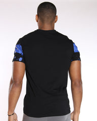 VIM King Of The Streets Paint Splatter Tee - Blue Black - Vim.com
