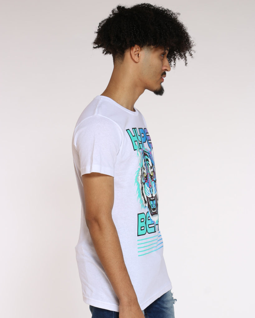 Bill Neon Hype Beast Tiger Tee - White