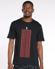 Savage Repeat Cross Tee - Black