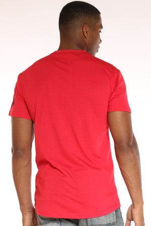 Men's Money Moves Brushed Metallic Tee - Red