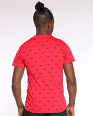 Jordan Sharks Printed Tee - Red Black