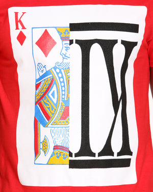 Men's King Split Card Tee - Red
