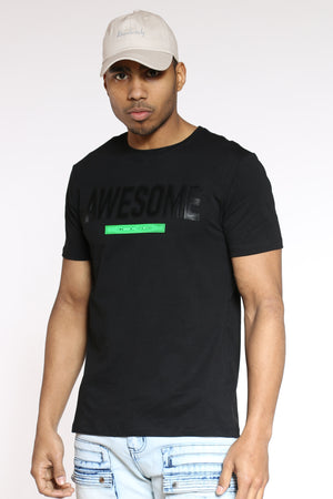 Men's Awesome Puff Print Tee - Black