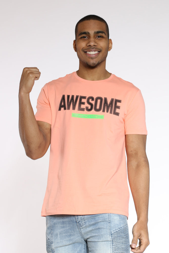 Awesome Puff Print Tee - Coral