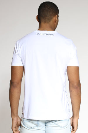 Men's Affirmations Puff Print Tee - White