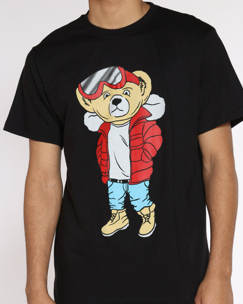 Bear Jacket & Glasses Tee - Black