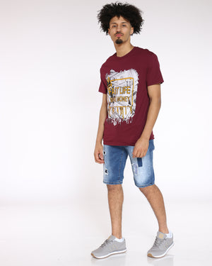 Men's Fast Life Make Money Tee - Burgundy