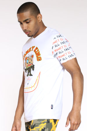 Men's Money King Character Tee - White
