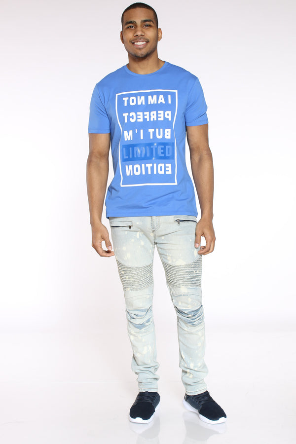 Men's I Am Not Perfect Limited Edition Tee - Royal