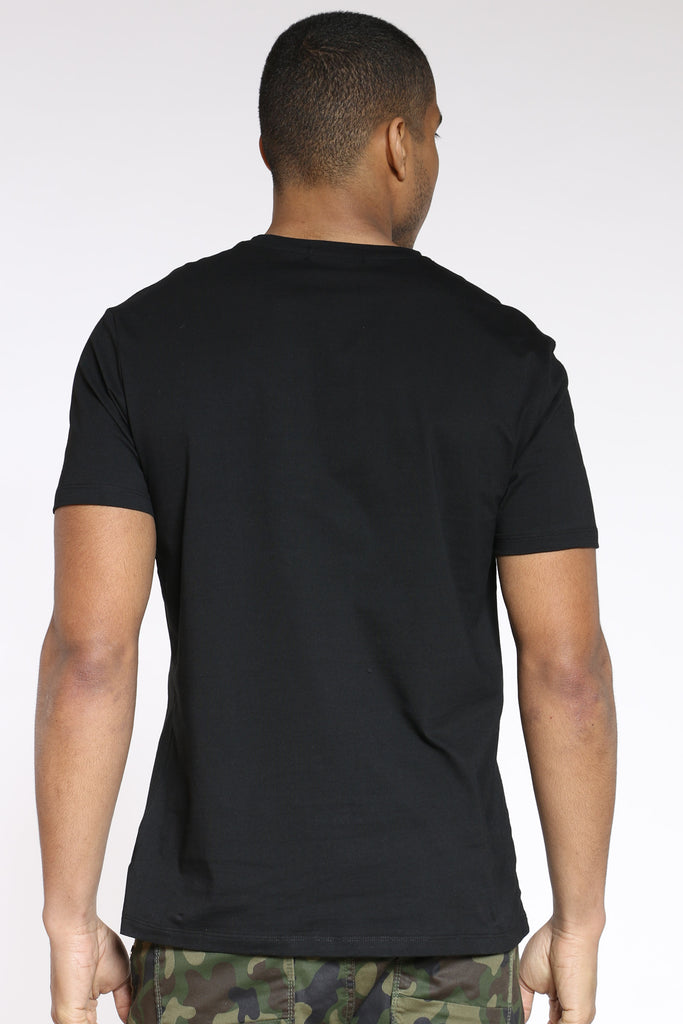 Revenge Box Logo Embossed Crew Tee - Black