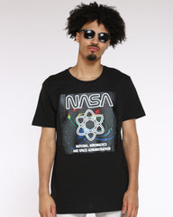 Nasa Molecule Colorful Tee - Black