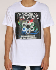 Nasa Molecule Colorful Tee - White
