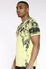 Lion Gold Chain Tee - Yellow