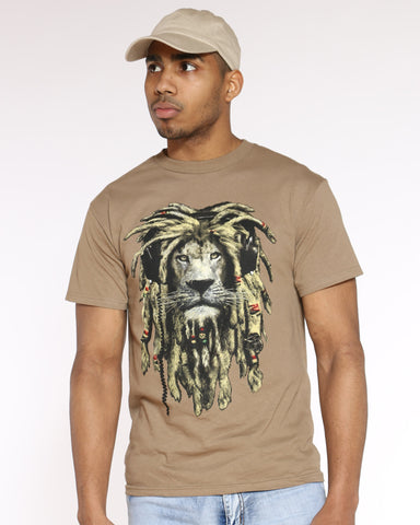 Men's Rasta Lion Tank Top - Timber