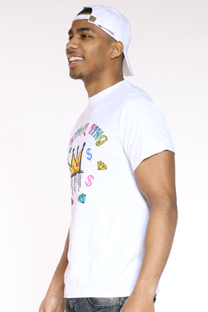 Men's Original King Crown Tee - White