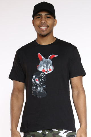 Men's Bunny Kiss Tee - Black-VIM.COM