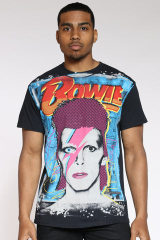 Men's Bowie Paint Splatter Tee - Black-VIM.COM