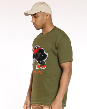 Men's Madison Color Block Turtle Tee - Olive