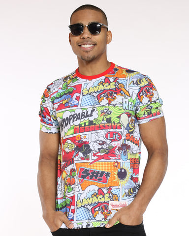 Men's Comic Book Look Tee - Multi-VIM.COM