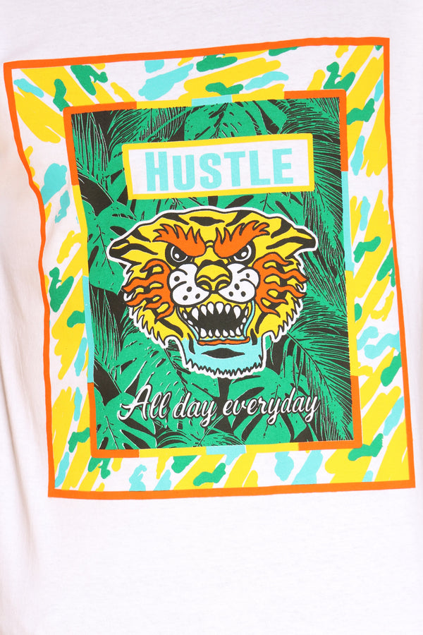 Men's Angry Tiger Tee - White
