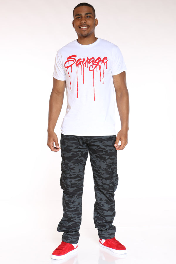 Men's Savage Drip Tee - White