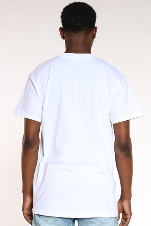 Men's Savage Colorful Tee - White