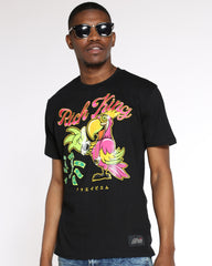 Rich King Parrot Money Tee - Black