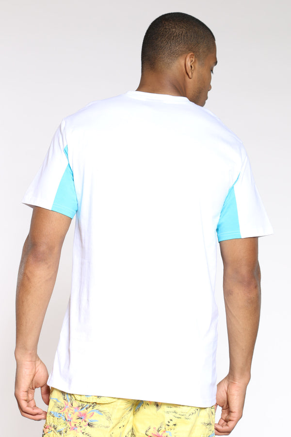 Men's Paper Chaser Colorful Animal Tee - White