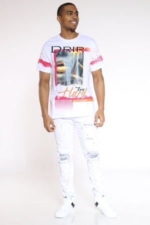 Drip Hard Girl Tee - White