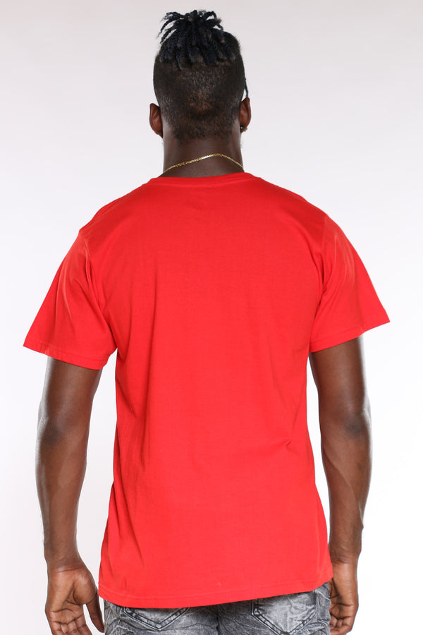 Men's Heartbreaker Paper Chaser Drip Tee - Red