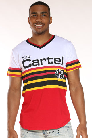 Men's The Cartel 49 Stripes Tee - Red