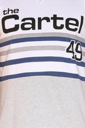 Men's The Cartel 49 Stripes Tee - White