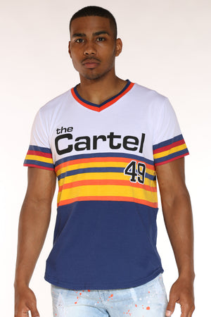 Men's The Cartel 49 Stripes Tee - Blue-VIM.COM