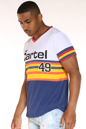 Men's The Cartel 49 Stripes Tee - Blue