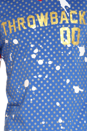 Men's Throwback 00 Dots Tee - Blue