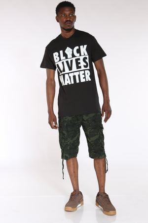 Men's Black Lives Matter Fist Tee - Black