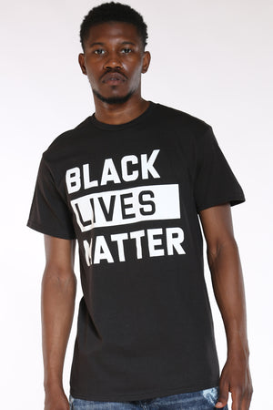 Men's Black Lives Matter Tee - Black-VIM.COM
