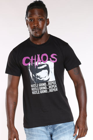 Men's Chaos Fear Regret Tee - Black-VIM.COM