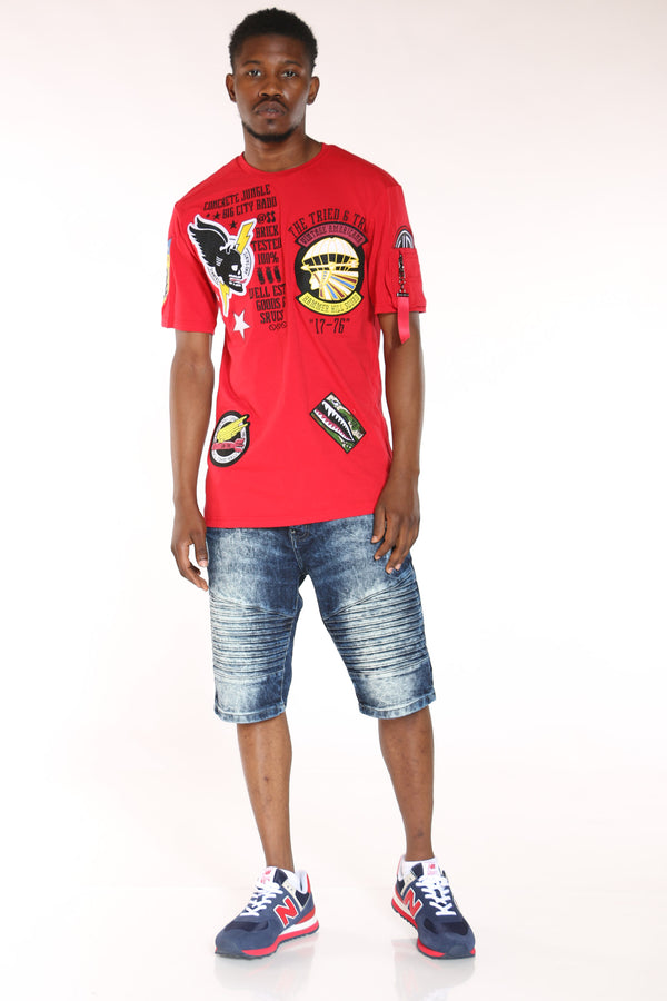 Men's Patches Tee - Red