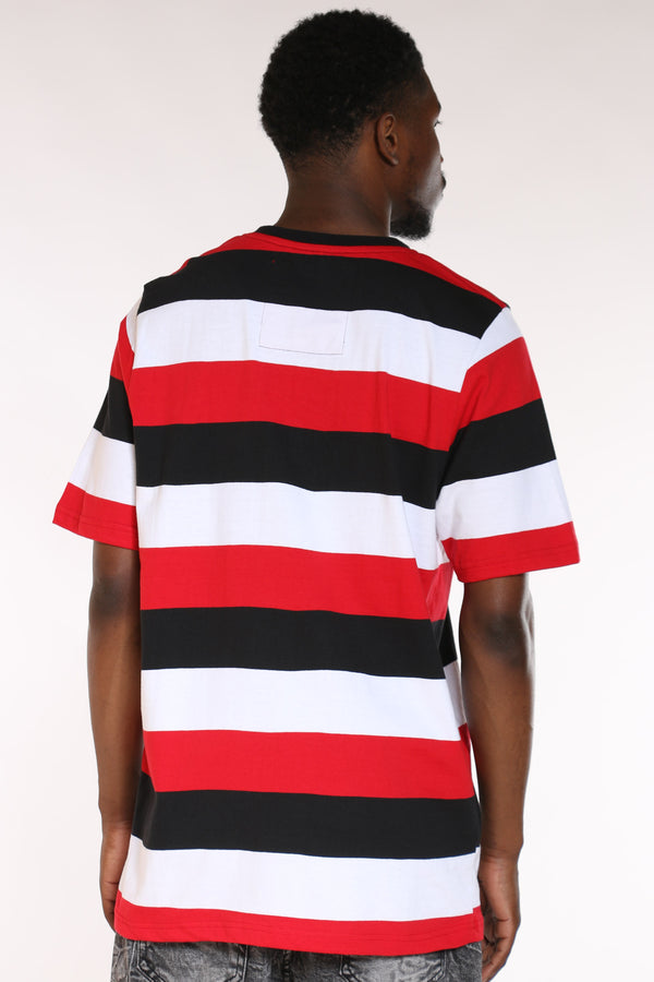 Men's Striped Patches Tee - Multi