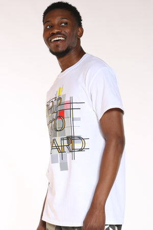 Men's Drip Too Hard Pattern Tee - White